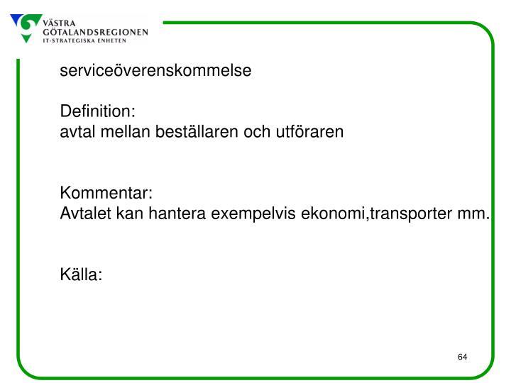 serviceöverenskommelse