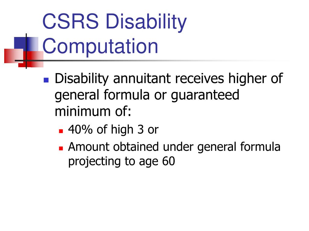 CSRS Disability Computation