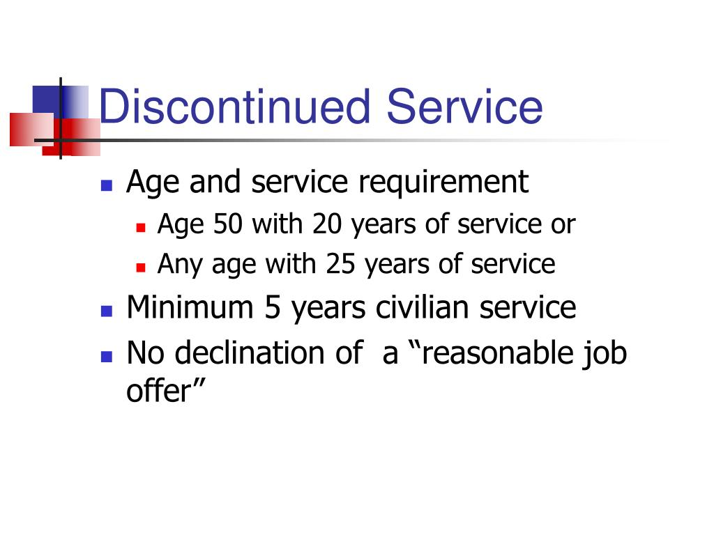 Discontinued Service