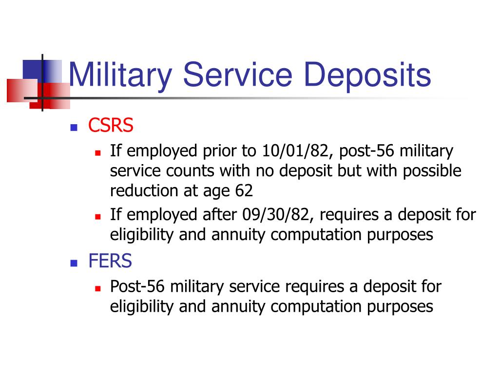 Military Service Deposits