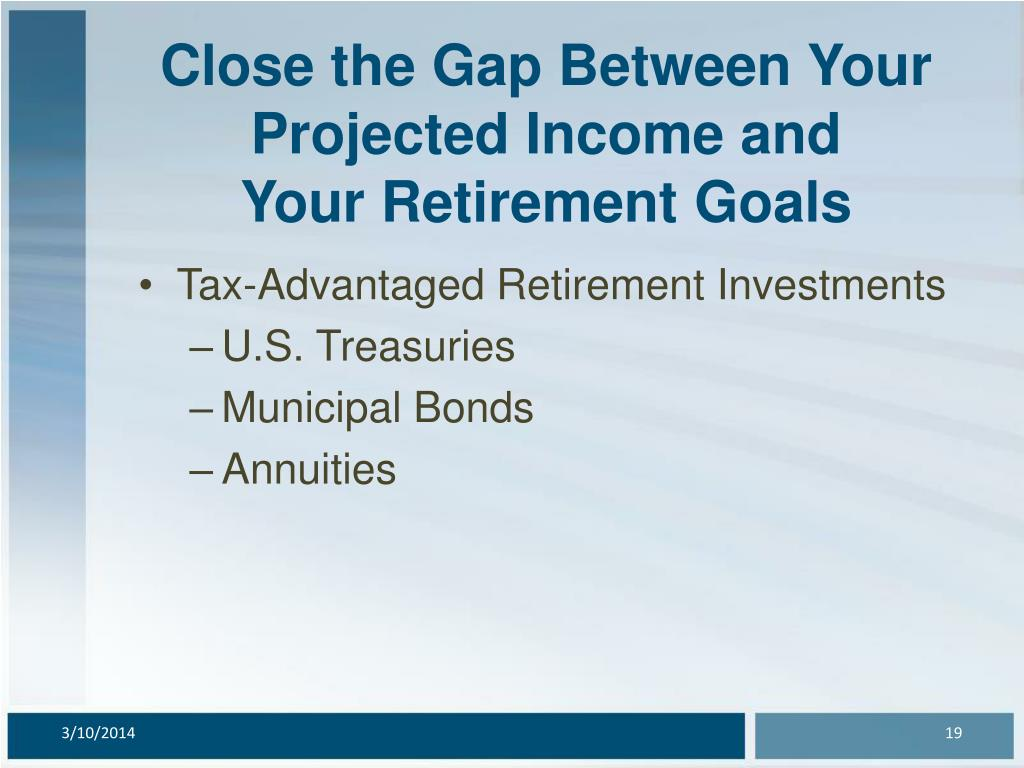 Close the Gap Between Your Projected Income and