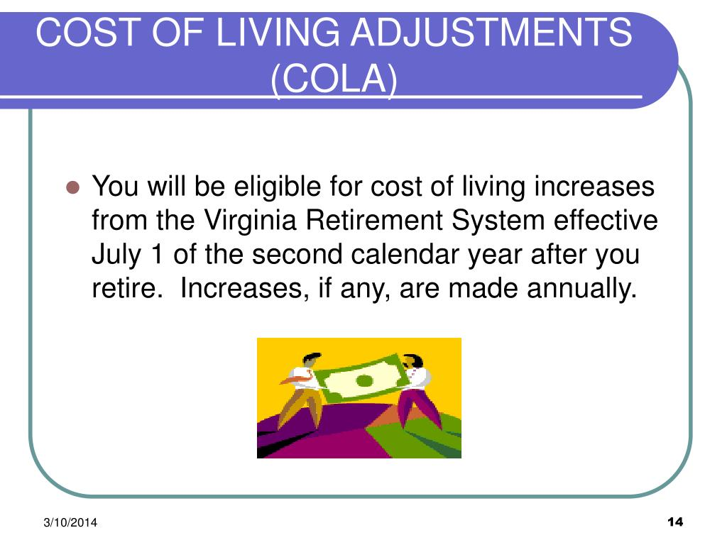 COST OF LIVING ADJUSTMENTS (COLA)