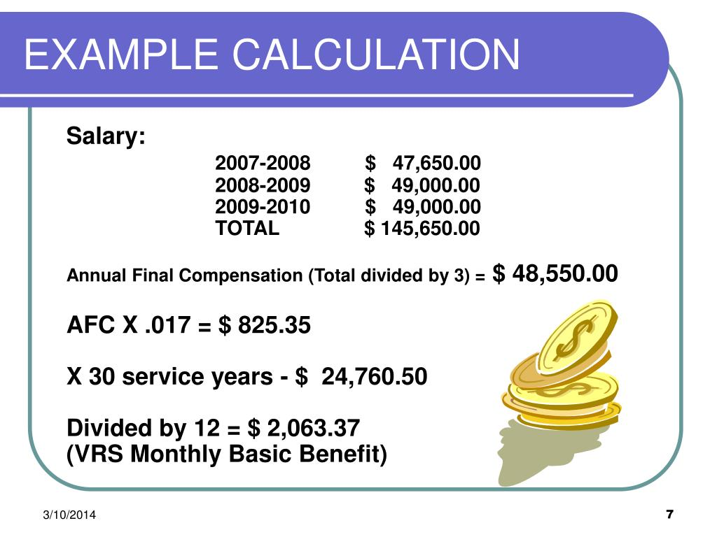 EXAMPLE CALCULATION