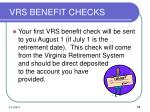 vrs benefit checks