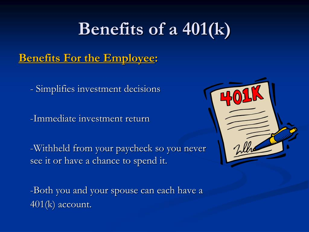Benefits of a 401(k)