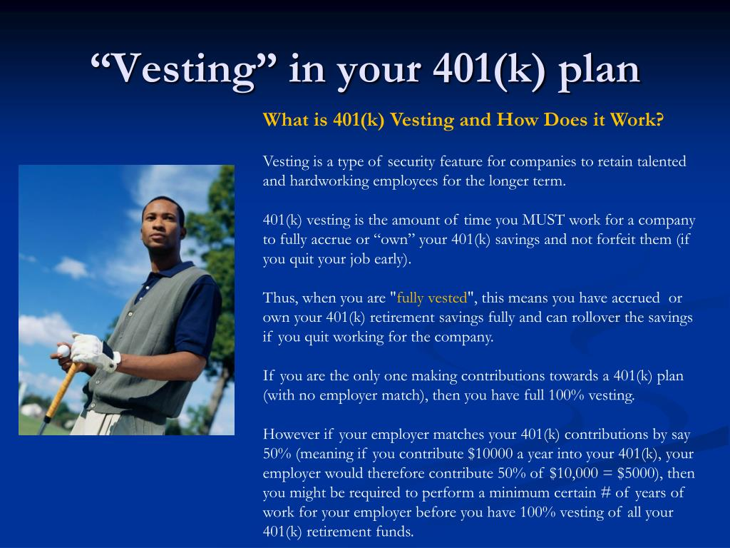 """""""Vesting"""" in your 401(k) plan"""