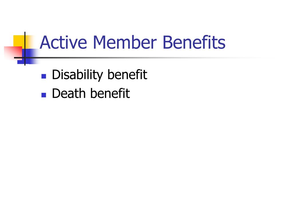 Active Member Benefits