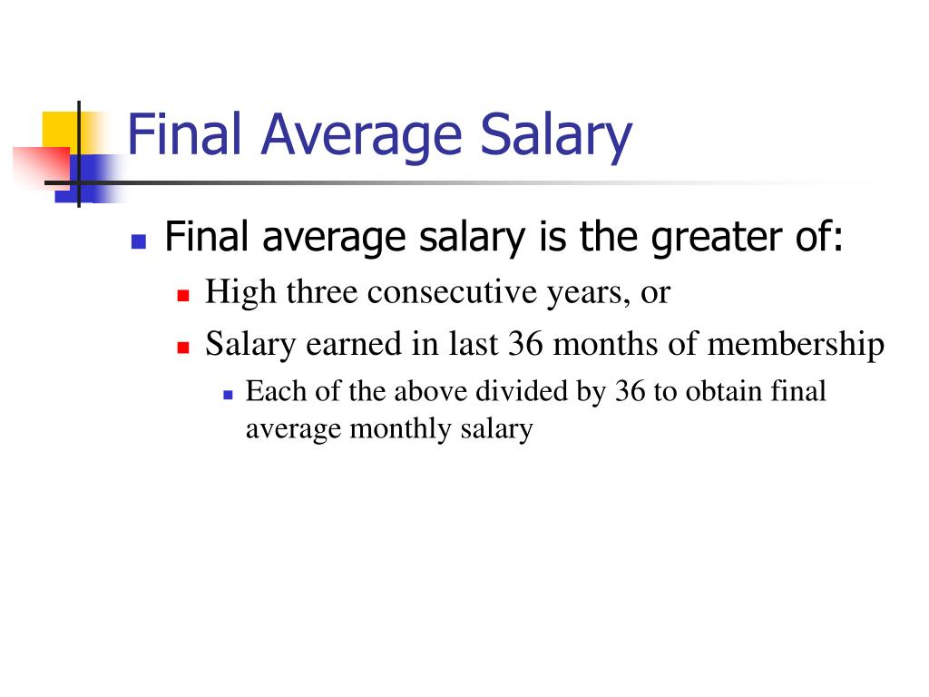 Final Average Salary