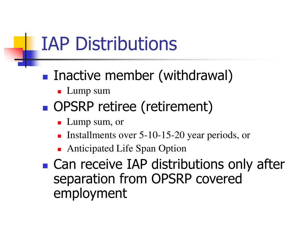 IAP Distributions