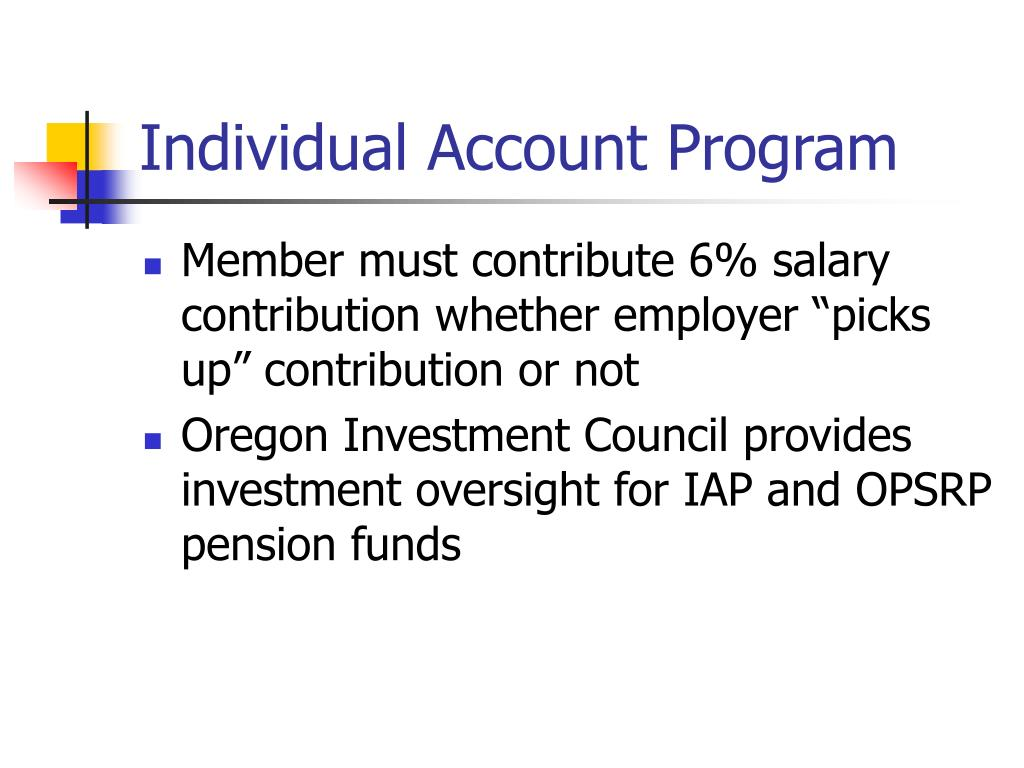 Individual Account Program
