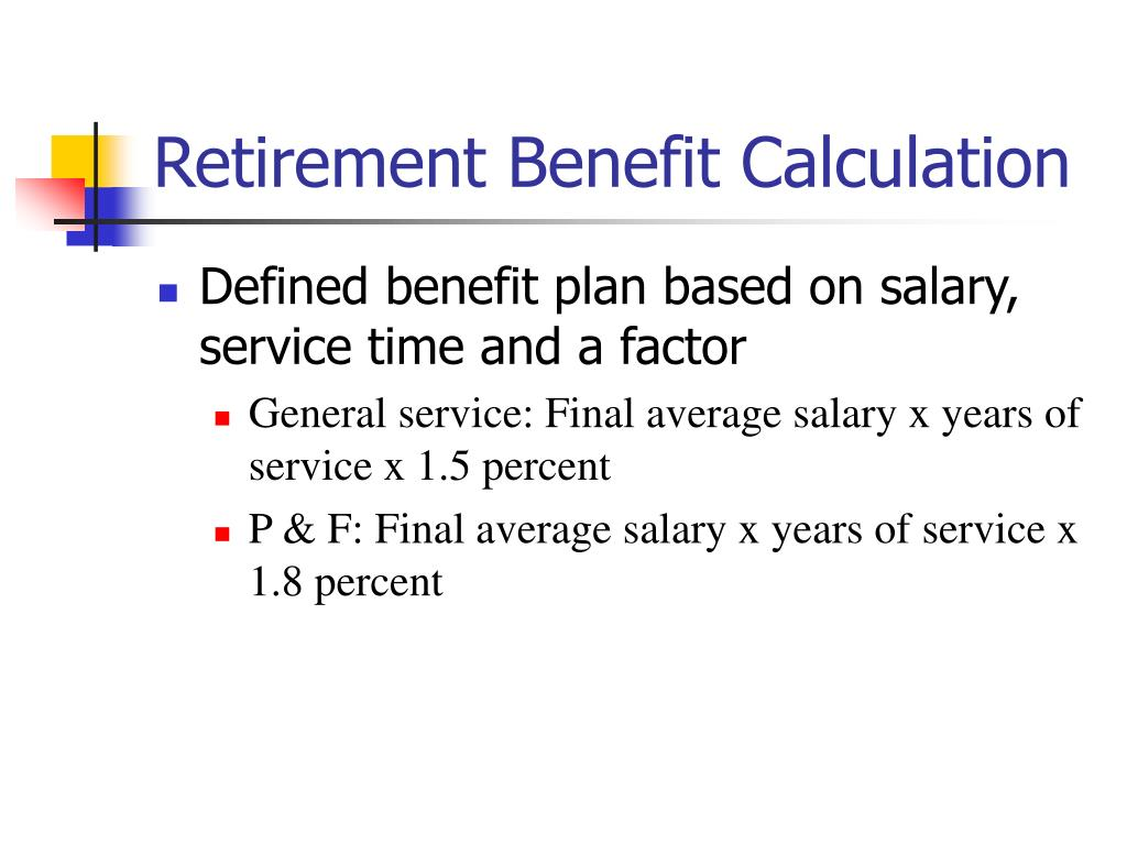 Retirement Benefit Calculation