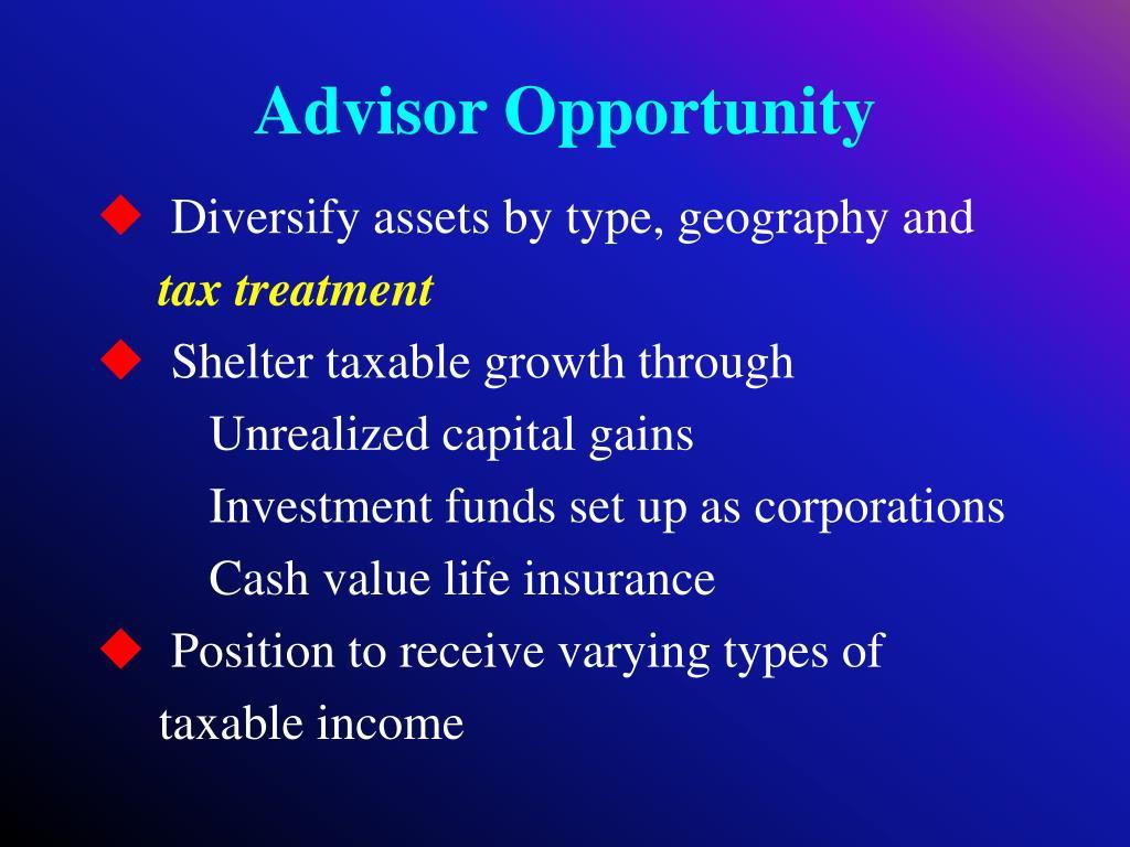Advisor Opportunity