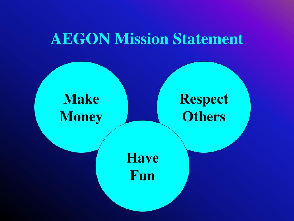 AEGON Mission Statement