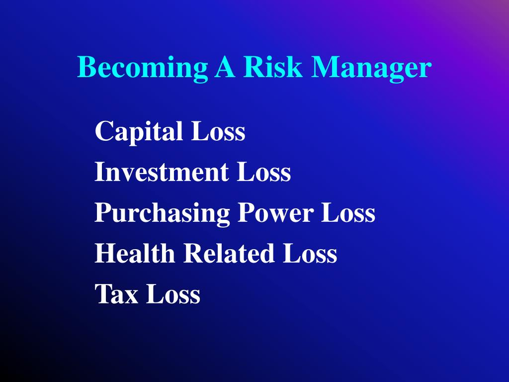 Becoming A Risk Manager