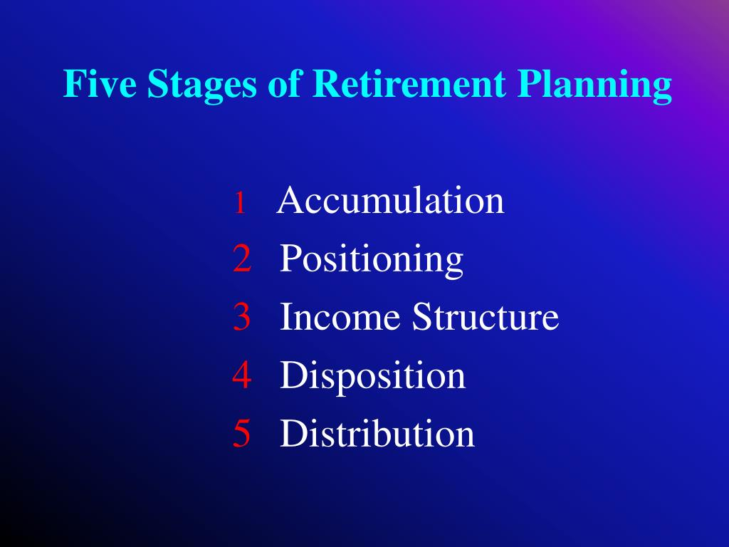 Five Stages of Retirement Planning