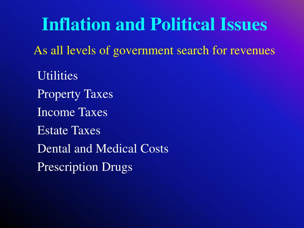 Inflation and Political Issues