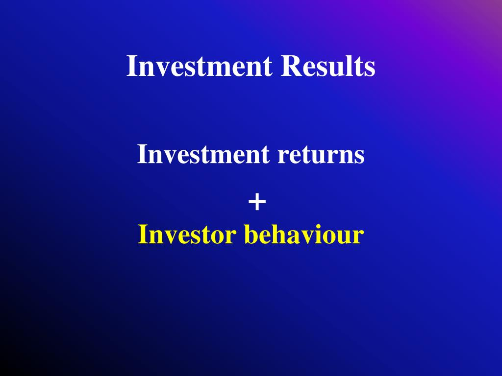 Investment Results