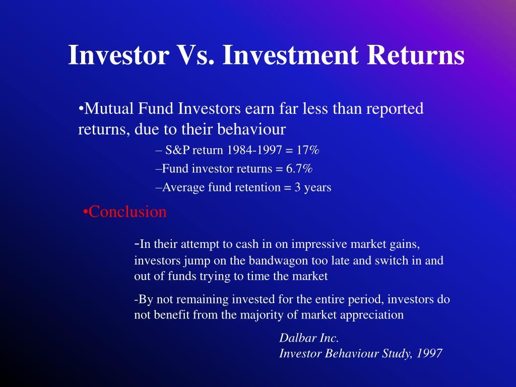 Investor Vs. Investment Returns