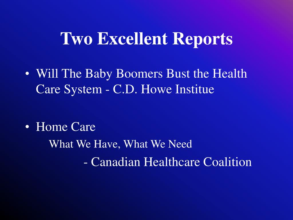 Two Excellent Reports