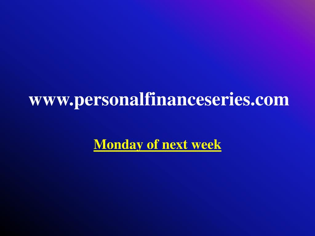 www.personalfinanceseries.com