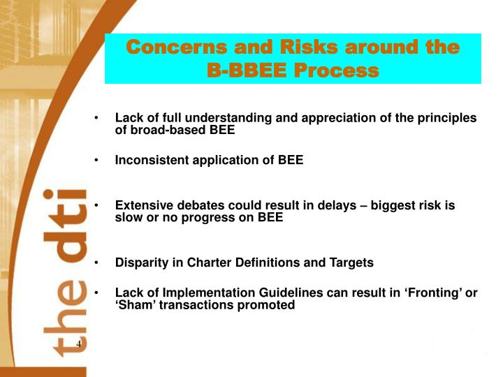 Concerns and Risks around the