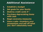 additional assistance