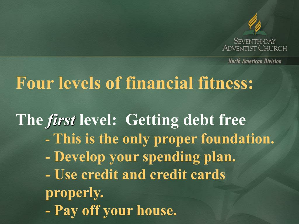 Four levels of financial fitness: