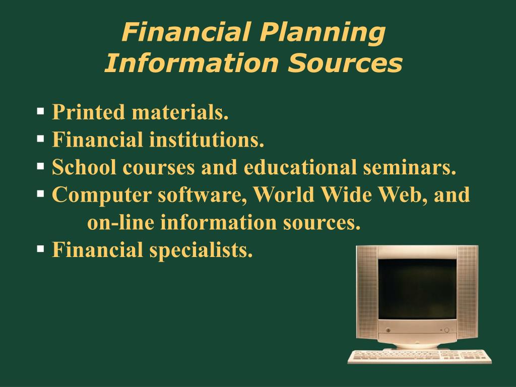 Financial Planning Information Sources