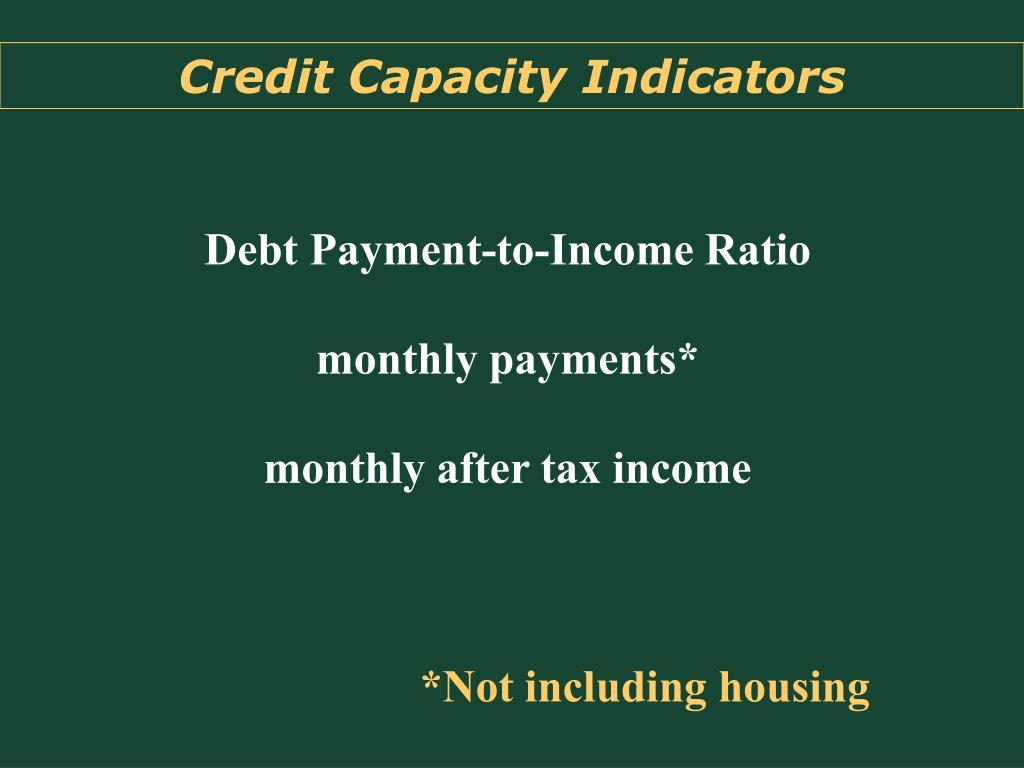 Credit Capacity Indicators