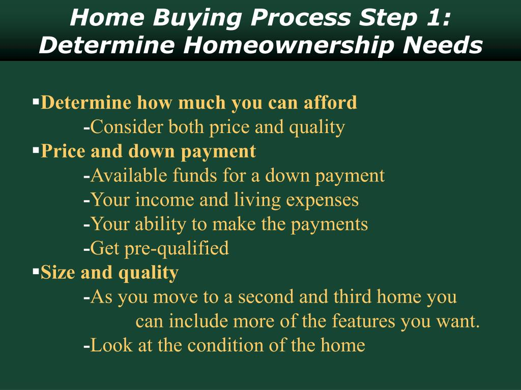 Home Buying Process Step 1: