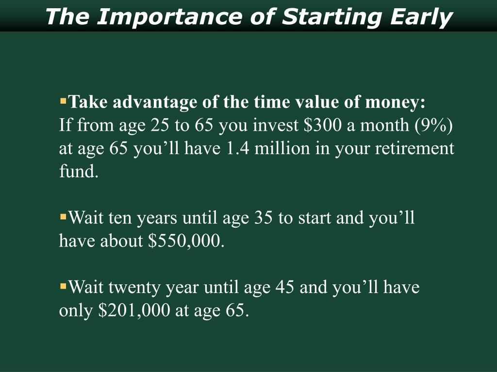 The Importance of Starting Early