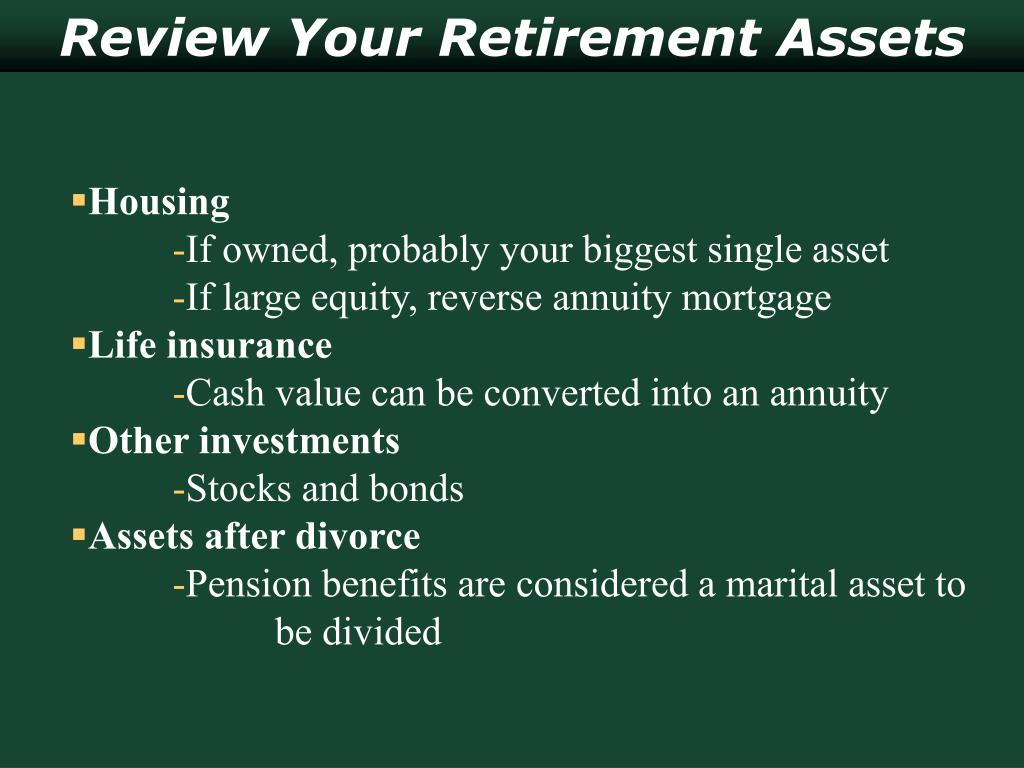 Review Your Retirement Assets