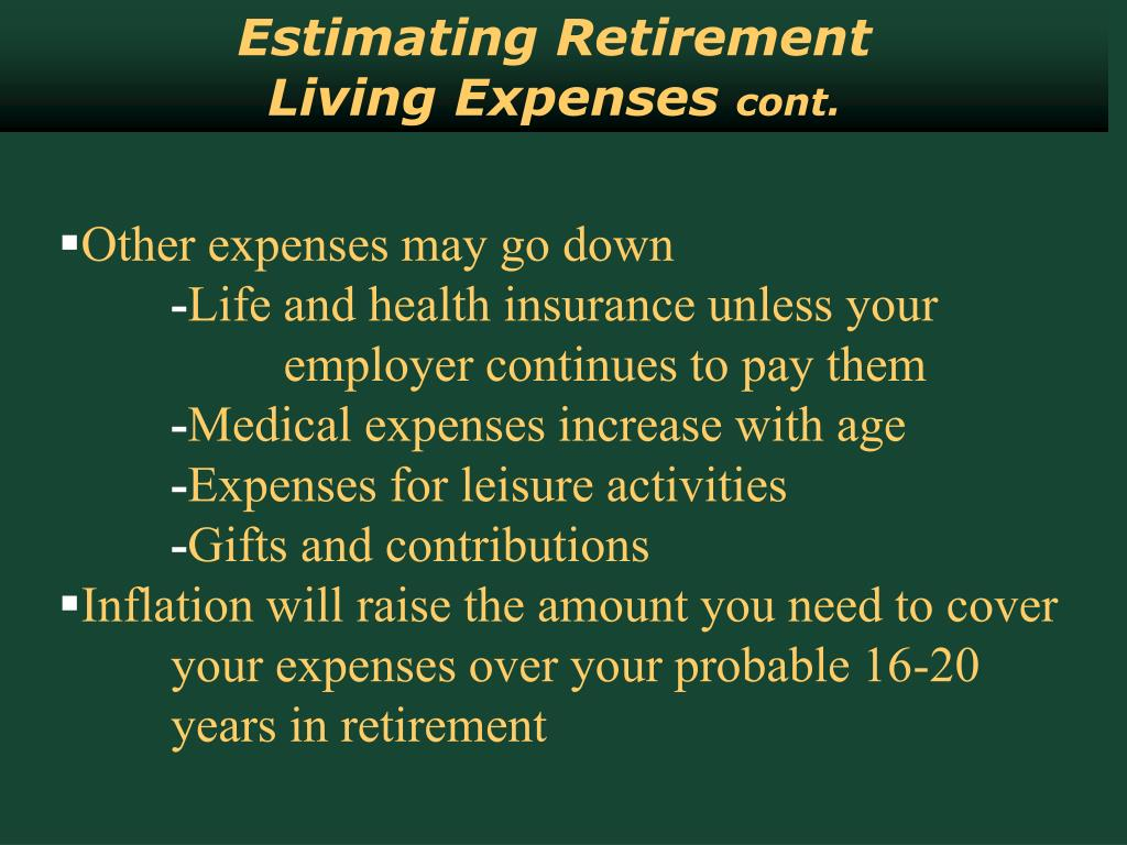 Estimating Retirement