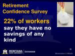 22 of workers say they have no savings of any kind