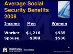 average social security benefits 2008