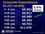 consumer expenditures 4 232 monthly