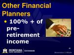 other financial planners