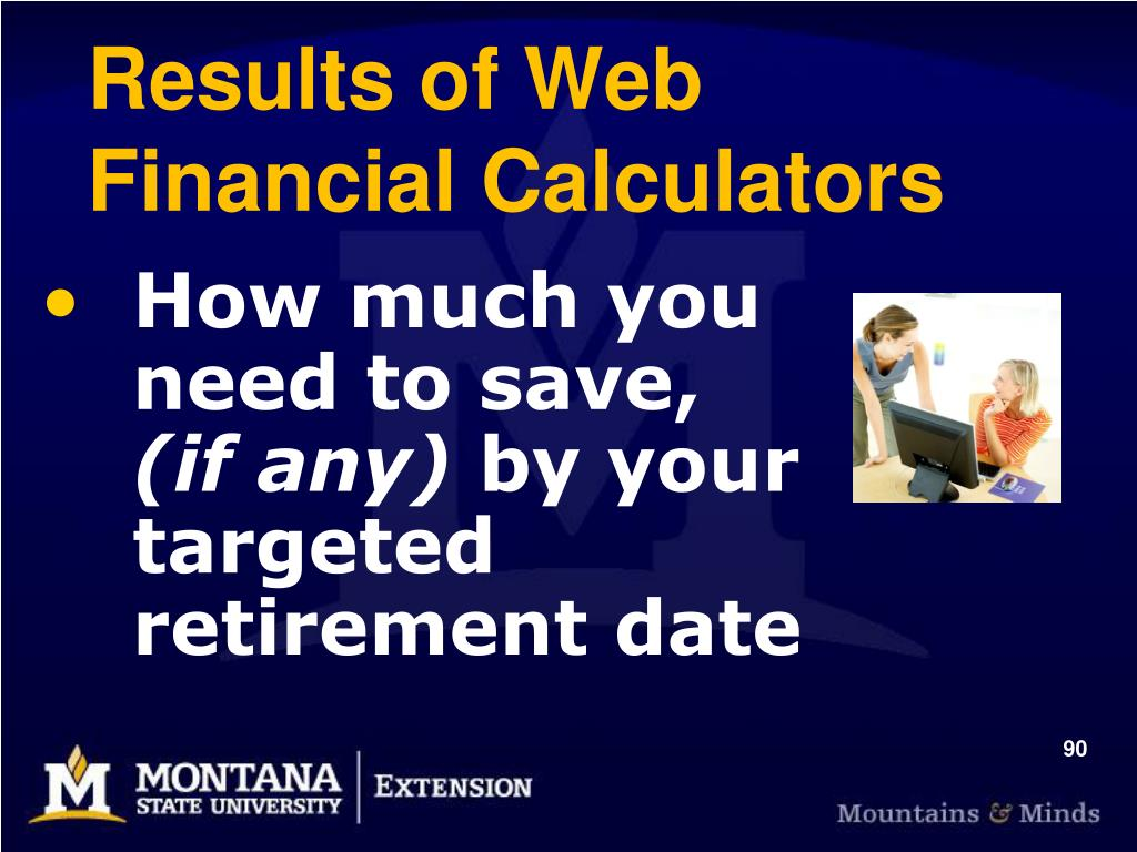 Results of Web Financial Calculators