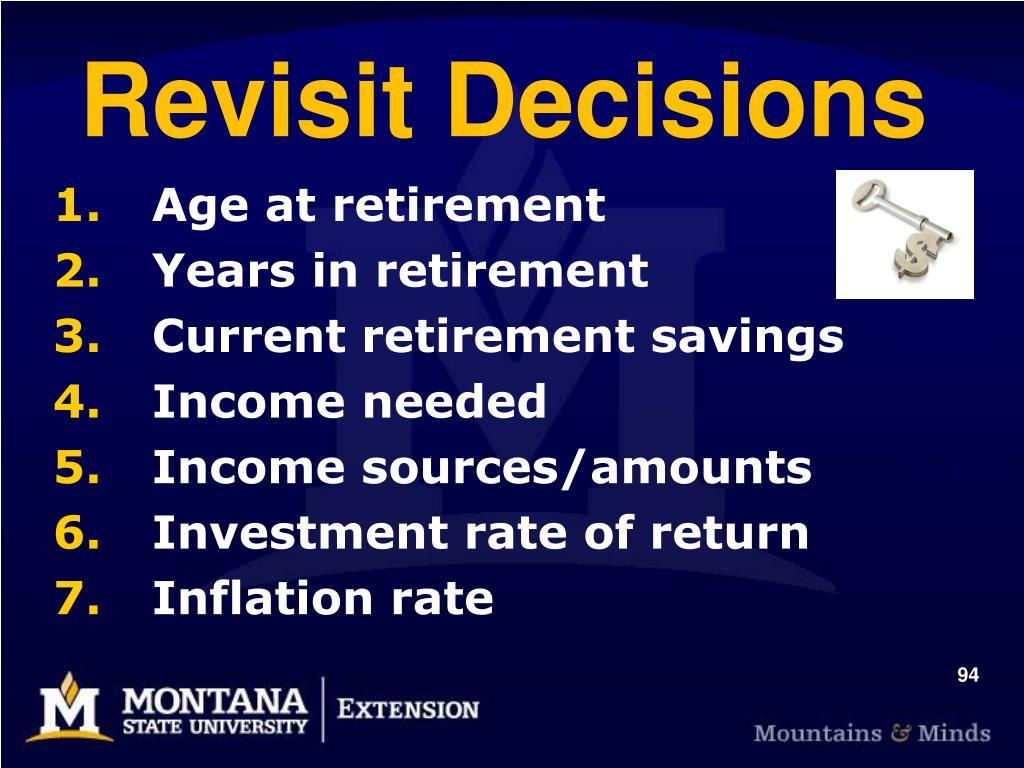 Revisit Decisions