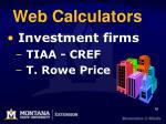 web calculators