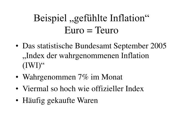 Beispiel gefhlte Inflation