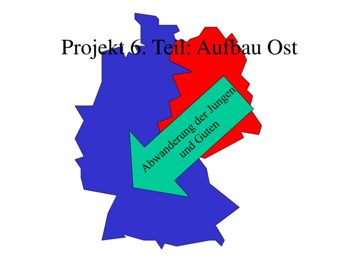 Projekt 6. Teil: Aufbau Ost