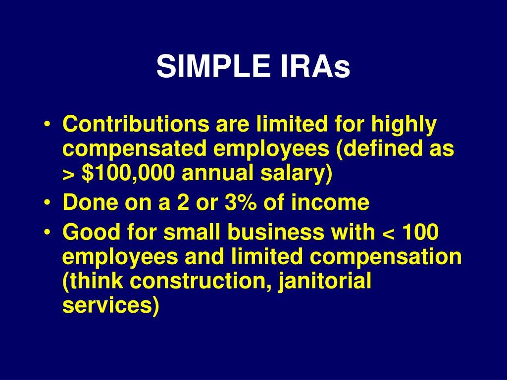 SIMPLE IRAs