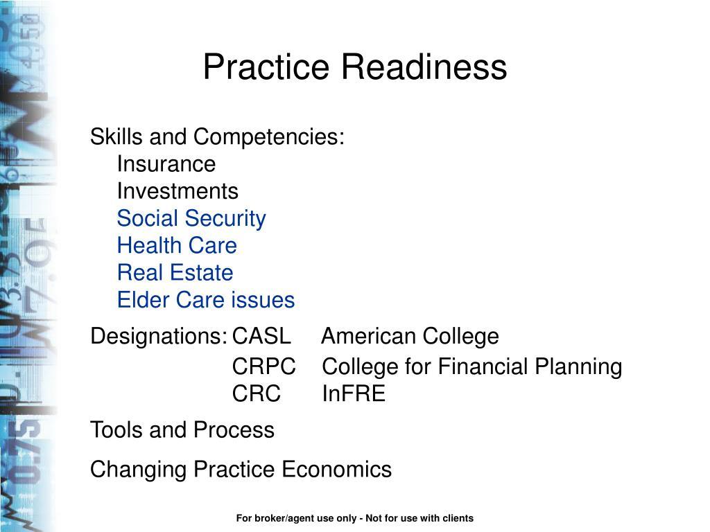 Practice Readiness