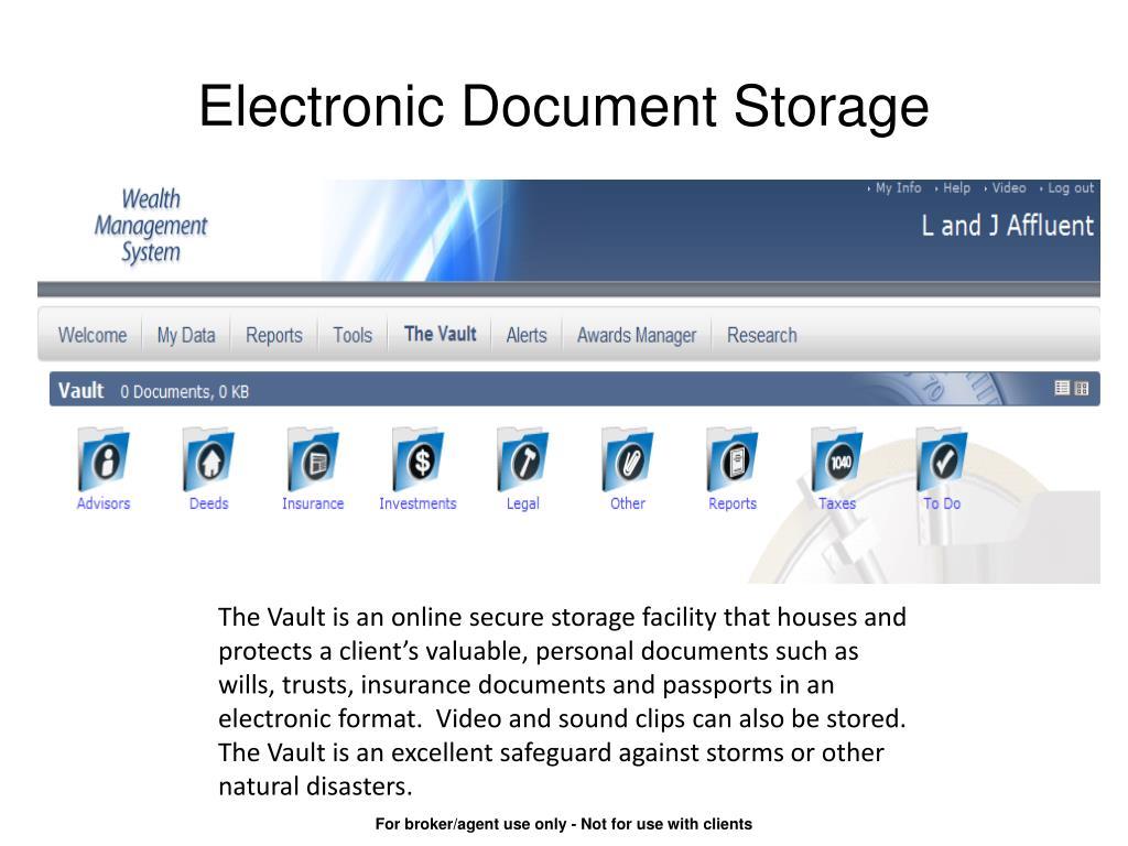 Electronic Document Storage
