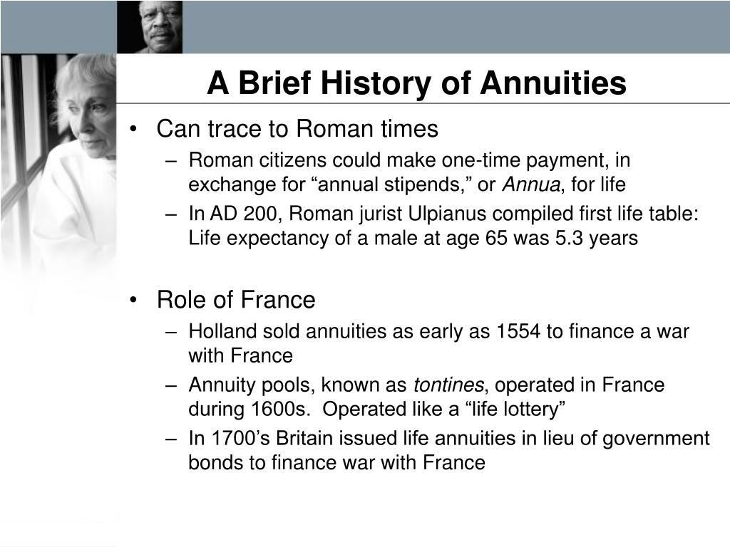 A Brief History of Annuities