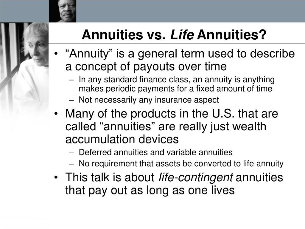 Annuities vs.