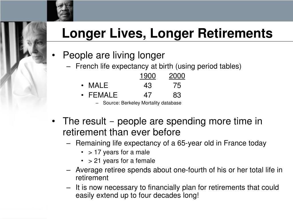 Longer Lives, Longer Retirements