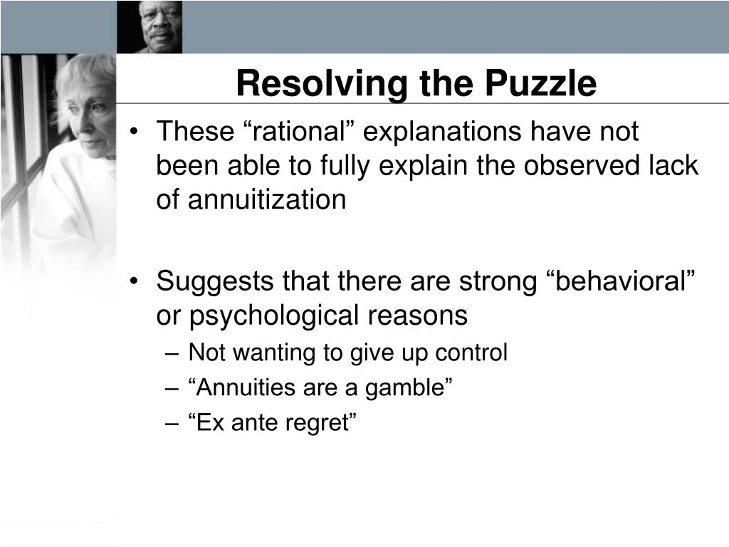 Resolving the Puzzle