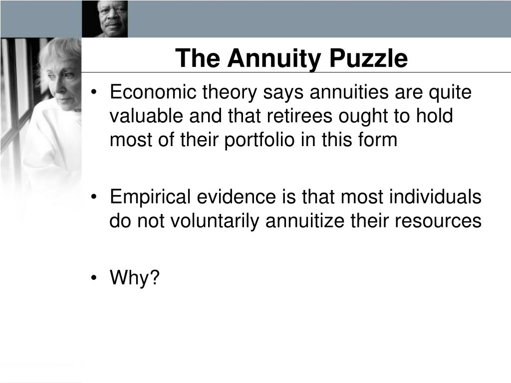 The Annuity Puzzle